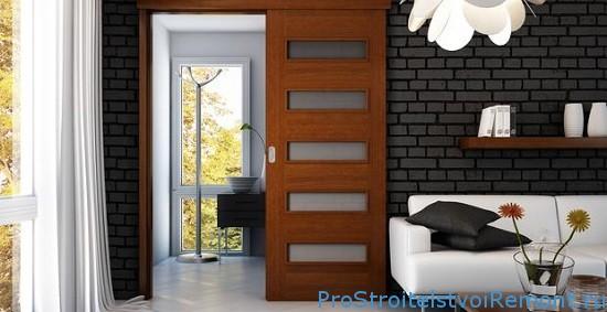 Дизайн комнаты с раздвижными дверьми