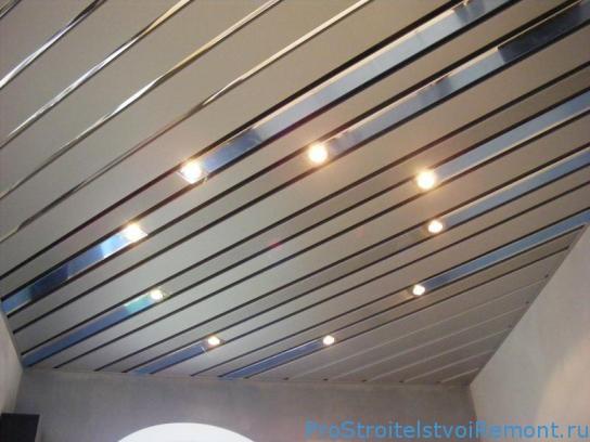Реечные потолки фото