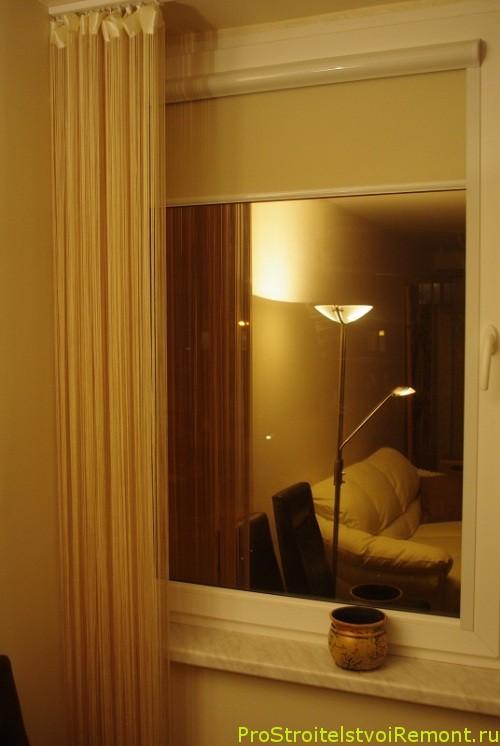 Рольставни и шторы на окнах фото