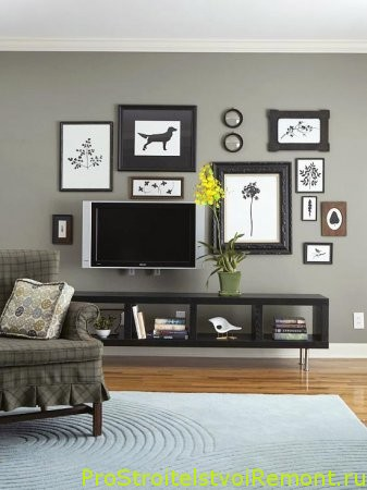 Телевизор в гостиной станет отличным