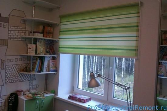 Открытые и закрытые рулонные шторы