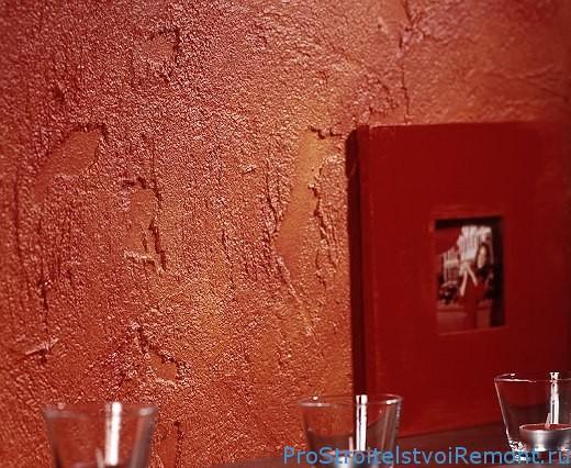 Штукатурка стен в комнате. Дизайн фото