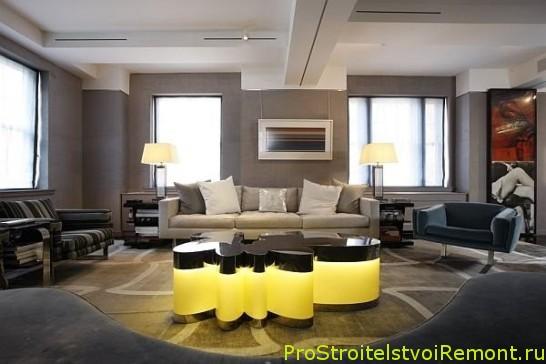 Дизайн серой гостиной фото