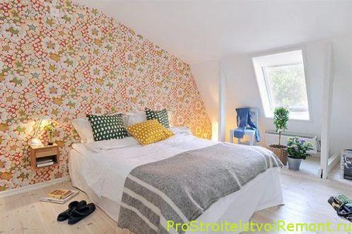 Современная спальня на чердаке фото