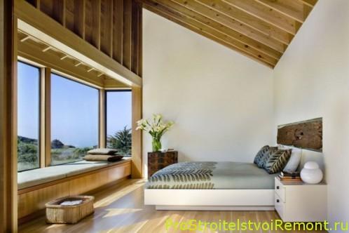 Дизайн спальной комнаты на чердаке фото