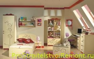 Детские комнаты для девочек на чердаке фото