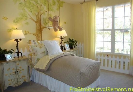 Красивый интерьер детской комнаты для девочки фото