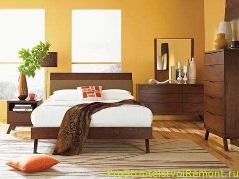 Современный стиль спальной комнаты фото