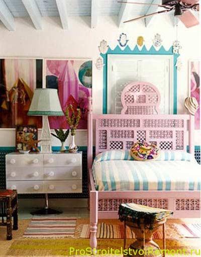 Веселый дизайн спальни фото