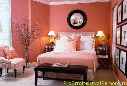 Розовый дизайн спальни фото
