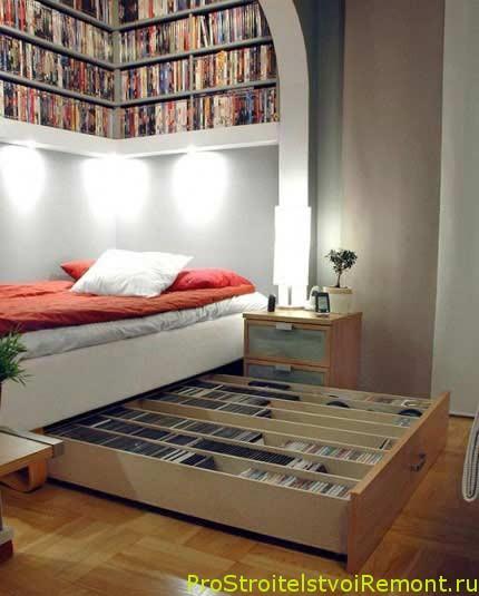 Мебель для маленькой спальни фото кровать