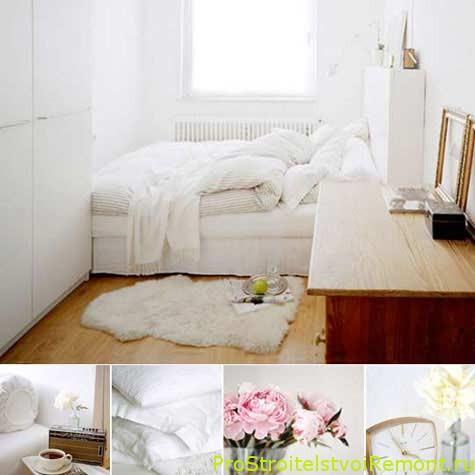 Маленькая спальня белого цвета фото