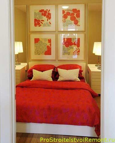 Чем украсить маленькую спальню фото