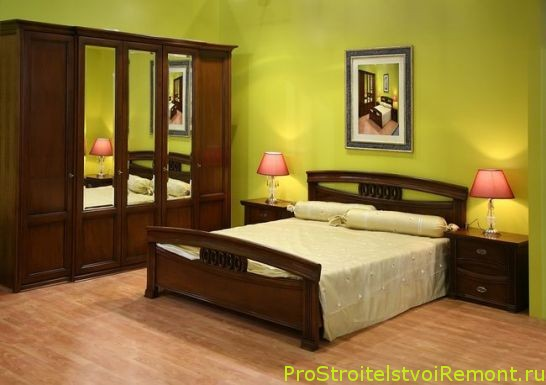 Купить качественную кровать и шкаф для спальни фото