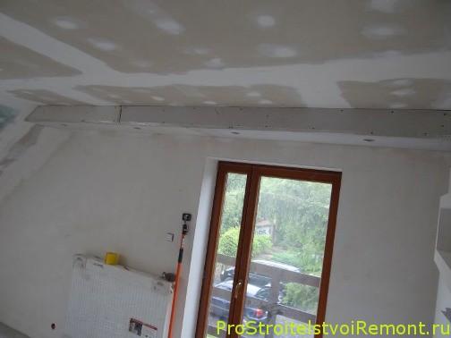 Дизайн подвесного потолка с гирляндой и освещение фото