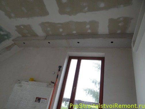 Потолки из гипсокартона своими руками. Установка потолка из гипсокартона фото