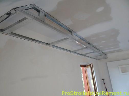 Дизайн подвесного потолка из гипоскартона в спальне фото