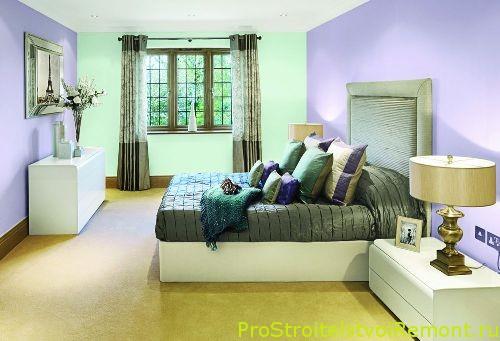 Цвет стен в спальне фото