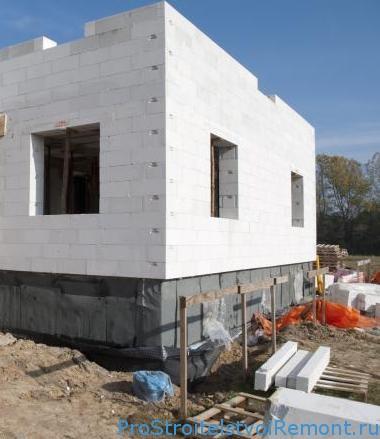 Строительство домов из газобетона фото