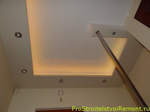 Дизайн подвесного потолка из гипсокартона фото