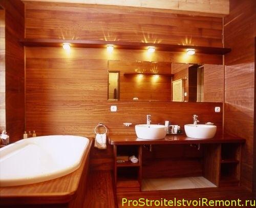 Дизайн ванной комнаты и освещение в ванной фото