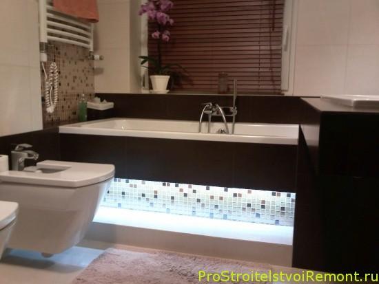 Дизайн ванной комнаты фото. Подсветка ванной фото