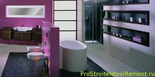 Красивый унитаз ванной комнате фото