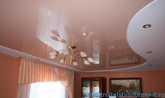 Натяжные потолки фото уход