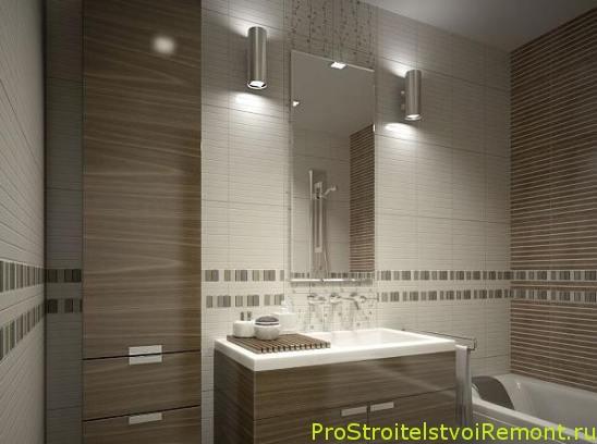 Как сделать свет в ванной комнате фото?