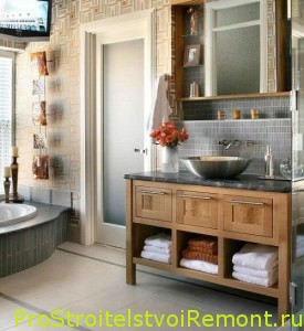 Фото интерьера ванной комнаты маленькой