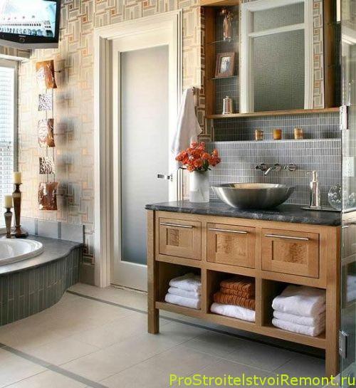 Дизайн интерьера маленькой ванной комнаты фото