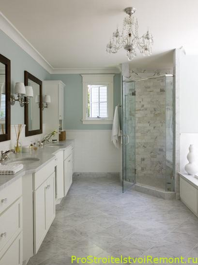 Светлая и белая ванная комната фото