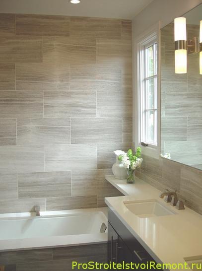 Качественная плитка в ванной комнате фото
