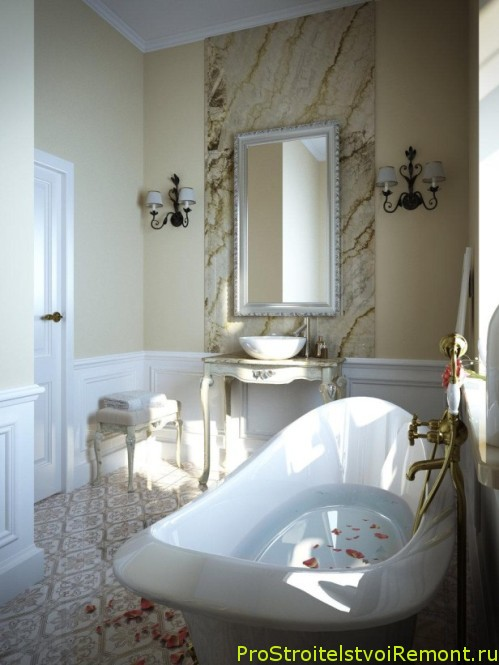 Современный дизайн маленькой ванной комнаты фото