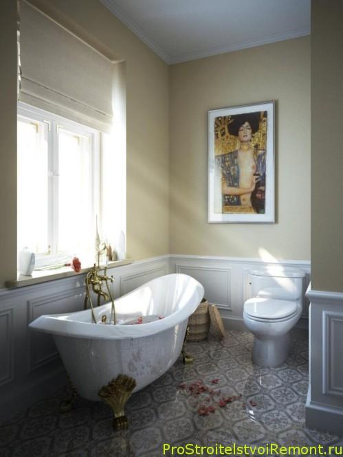 Современный интерьер маленькой ванной комнаты фото