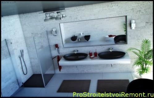 Современный дизайн интерьера ванной комнаты с душевой кабиной фото