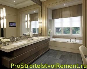 Ванная комната с зеркалом фото