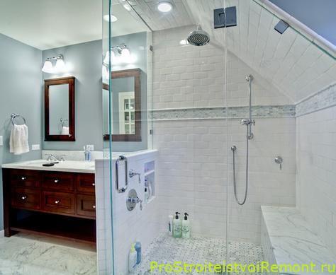 Дизайн ванной комнаты на чердаке фото