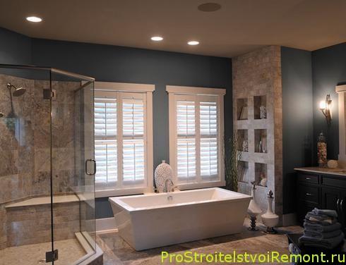 Дизайн подвесного потолка в ванной комнате фото