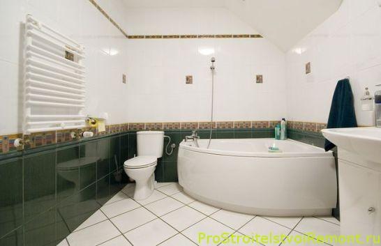 Угловая ванна с гидромассажем фото