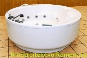 Круглая ванна с гидромассажем фото