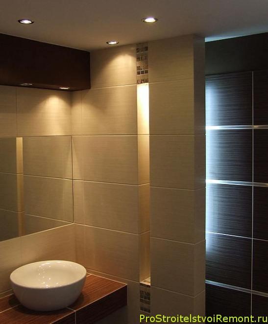 Освещение в ванной комнате фото | Про