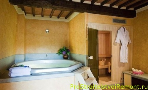 Тосканский стиль ванной комнаты фото