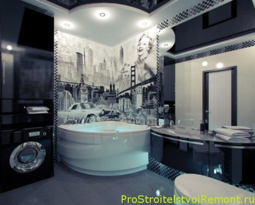 Американский стиль ванной комнаты фото