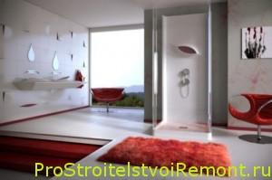 Элегантный интерьер ванной комнаты с душевой кабиной фото