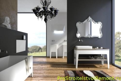 Дизайн ванной комнаты с душевой кабиной во французском стиле фото