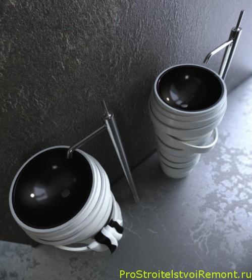 Стильные умывальники в ванной комнате фото