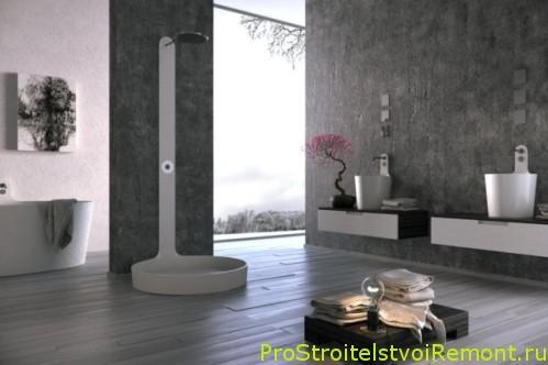 Красивый дизайн ванной комнаты в современной стиле с душевой кабиной фото