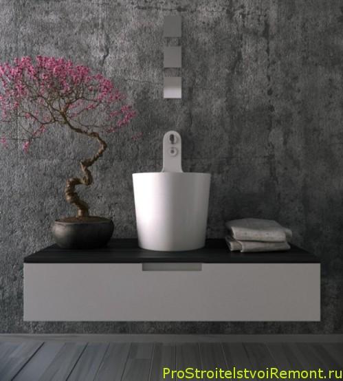 ССтильный дизайн ванной комнаты сдушевой кабиной фото