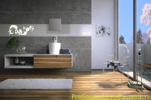 Дизайн ванной комнаты с душевой кабиной в современном стиле фото
